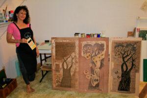 Andrea With Blocks