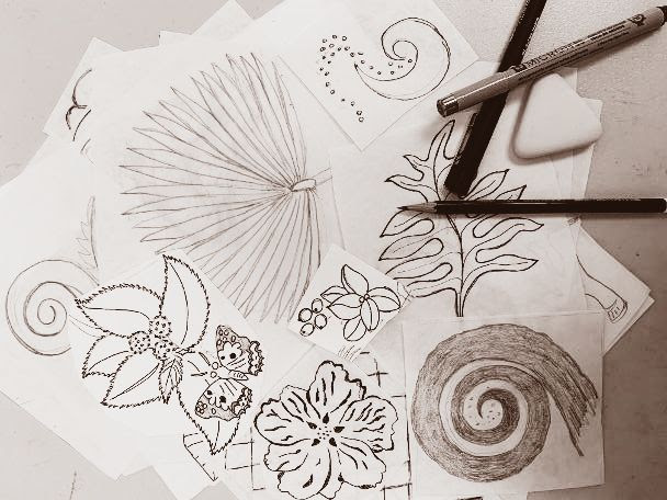 Block Art Sketches