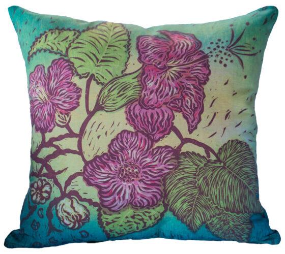 Hand Made Pillow Ko'oloa'ula Print