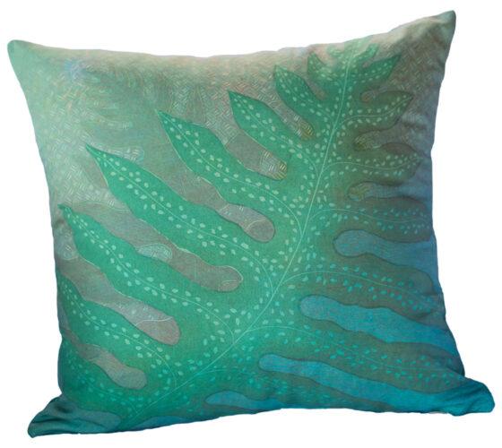 Hand Made Pillow Lauae Fern Print