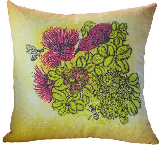 Hand Made Pillow Nectar Print