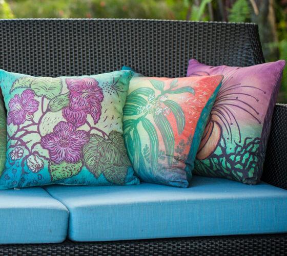Koa Pillow Arranged Outside